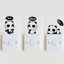 3 Panda DIY Switch Sticker Wall Quote Wall Stickers Vinyl Mural Decor Decals E