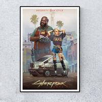 Cyberpunk 2077 Gaming Teen Gamer Glossy Print Wall Art A4 Poster Decor