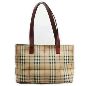 Burberry London Tote Bag  Reds PVC 839672