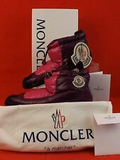 NIB MONCLER PINK PURPLE SUEDE CAMILLE DOWN SLIPPERS 40 $231