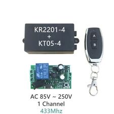 AC 220V 1CH RF Wireless Remote Control Switch 1 Relay Light Controller 433MHz