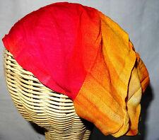 Bandeau à Cheveux Serre tête Fichu Ethnique Tie and dye Hippie rose jaune
