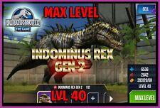 Jurassic WORLD The Game Builder MAX LEVEL INDOMINUS REX GEN 2 Android iOS park