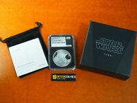 2016 $2 NIUE SILVER YODA STAR WARS NGC PF70 ULTRA CAMEO 1 OF 1ST 2500 STRUCK