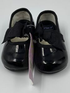 Carters Dress Shoes Black Infant Size 1 Slip-On Mary Janes