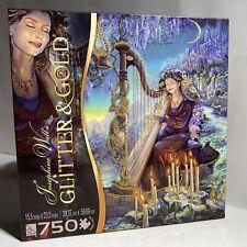 "Glitter & Gold 'Minerva's Melody' 750 Piece Jigsaw Puzzle 15.5""x23.5"" Sure-Lox"