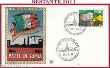 ITALIA FDC FILAGRANO PATTI DI ROMA 1984 DI VITTORIO BUOZZI GRANDI TORINO Y574