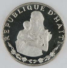 Haiti 1973 50 Gourdes Silver Proof Coin Woman with Infant KM#105 GEM