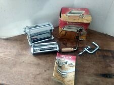 Vintage Imperia Chrome Pasta Noodle Maker~Box~Instruction Book Made in Italy