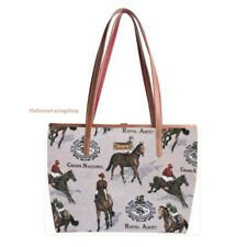 Stylish Signare College Tapestry Tote Shoulder Bag Horse Racing Equestrian New