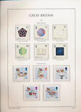 XC39845 Great Britain 2001 birds nobel prizes fine lot MNH fv 7,92 £