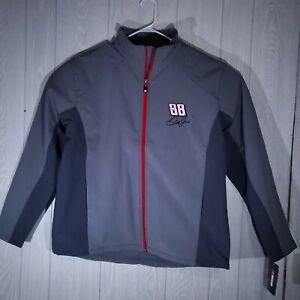 Dale Earnhardt Jr Mens Gray Nascar Jacket Coat National Guard Chase Authentic
