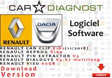 Renault Can Clip V182  Reprog V169 & Dialogys  & Renault Pin Extractor  VISU+FU