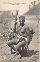 POSTCARD  SENEGAL  ETHNIC  Mother  and  Baby