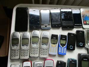 Konvolut 46 Handy/Smartphones Apple I Phone 4+6, Nokia, Samsung, Alcatel