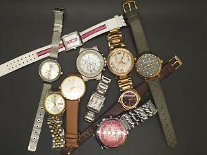 Lot of 10 Women's and Men's Watches Michael Kors, Bulova, Skagen, Seiko, Lacoste