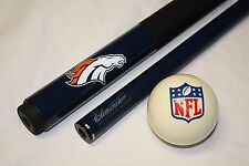 NEW NFL Denver BRONCOS Football Billiard Pool Cue Stick & NFL Logo Cue Ball
