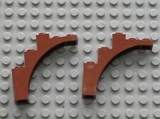 2 x LEGO RedBrown arch 2339 /set 10193 4766 8403 4752 4750 10199 3828 8877 10236