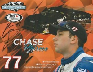 2016 Chase Briscoe signed Cunningham Motorsports Ford Fusion ARCA Hero Card