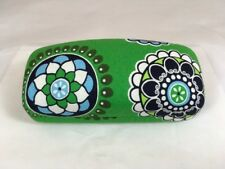 Vera Bradley Hard Clamshell Sunglass Case in Cupcakes Green