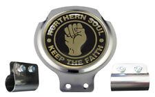 Northern Soul Black & Gold Design Scooter Bar Badge - FREE BRACKET & FIXINGS