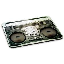 Boombox Vintage Pc Computadora Mouse Mat Pad-música altavoces estéreo Tocadiscos