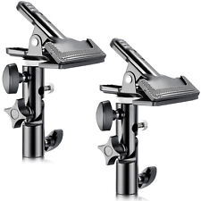 """Neewer 2PCS Metal Clamp Holder with 5/8"""" Light Stand Attachment for Reflector"""