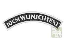Namensschild Wunschtext Name  Biker Kutte MC Patch Aufnäher Bogen gestickt 10cm