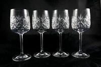 4 Stunning Edinburgh Lead Crystal Wine Water Glasses Berkeley pattern vintage