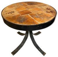 Table Raymonde Leduc Céramique Capron Feuille 1950 Vintage Design Vallauris
