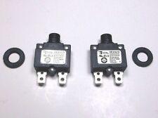 2 Carling Brand Push to Reset Panel Mount 15 amp Circuit Breakers
