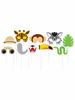 Jungle Animal Photo Booth Selfie Props Birthday Party Accessories/Decoration
