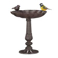 Vogeltränke Gusseisen mit Ständer Gartendeko Wassertränke Wildvögel Wasserschale