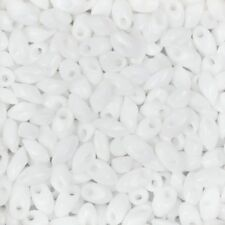 Miyuki Long Magatama Glass Seed Beads 4x7mm LMA-402 White 8.5g (C67/10)