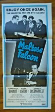 The Maltese Falcon Rare Original R1970s Australian Daybill Movie Poster Bogart