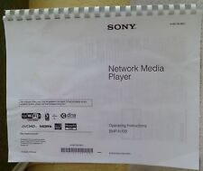 Sony SMP-N100 Network Media Player Owner's Manual