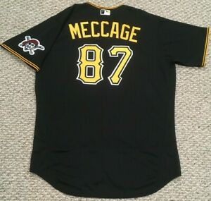 MECCAGE size 48 #87 2020 PITTSBURGH PIRATES Black alt game Jersey issued MLB