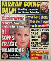 National Examiner July 8 1997 Princess Diana Son Handicap Farrah Fawcett Manson