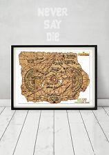 The Goonies Pirate Treasure Map Chunk Sloth  Truffle Shuffle Gift Art Movie Prop