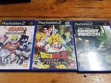 PS2 lote Dragon Ball Z Budokai Tenkaichi naruto ultimate ninja 2 Recon España