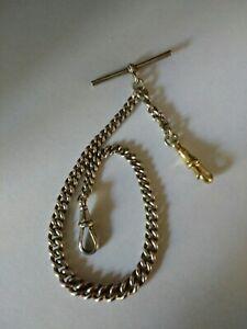 Antique Solid Silver Albert Pocket Watch Chain