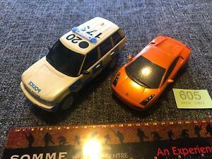 Scalextric Bundle - Police Range Rover C2808 & Lamborghini Gallardo Orange 1:32