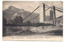 brignoud  pont suspendu sur l'isère et la dent de crolles