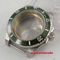40mm sapphire glass green ceramic bezel Watch Case fit 2824 2836 8215 MOVEMENT