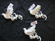 3 x White Bird Christmas Tree Hanging Decorations Wedding Hanger Decorations