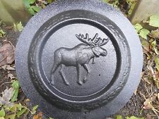 concrete plaster mold moose mini birdbath plastic mould
