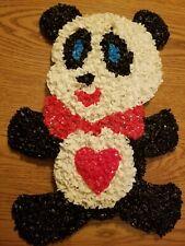 Vintage Melted Plastic Popcorn Panda Bear