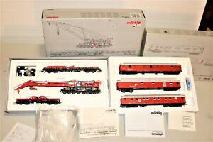 RARE Marklin RED Goliath 49952 Digital Railroad Crane Set + 49953 Passenger Set