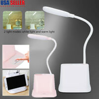 USB LED Desk Lamp Table Reading Light Modern Office Study Touch Control Home