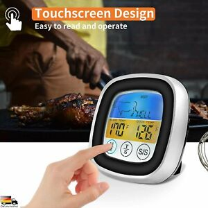 Digitales Bratenthermometer Funk Grillthermometer Fleisch-Thermometer DHL